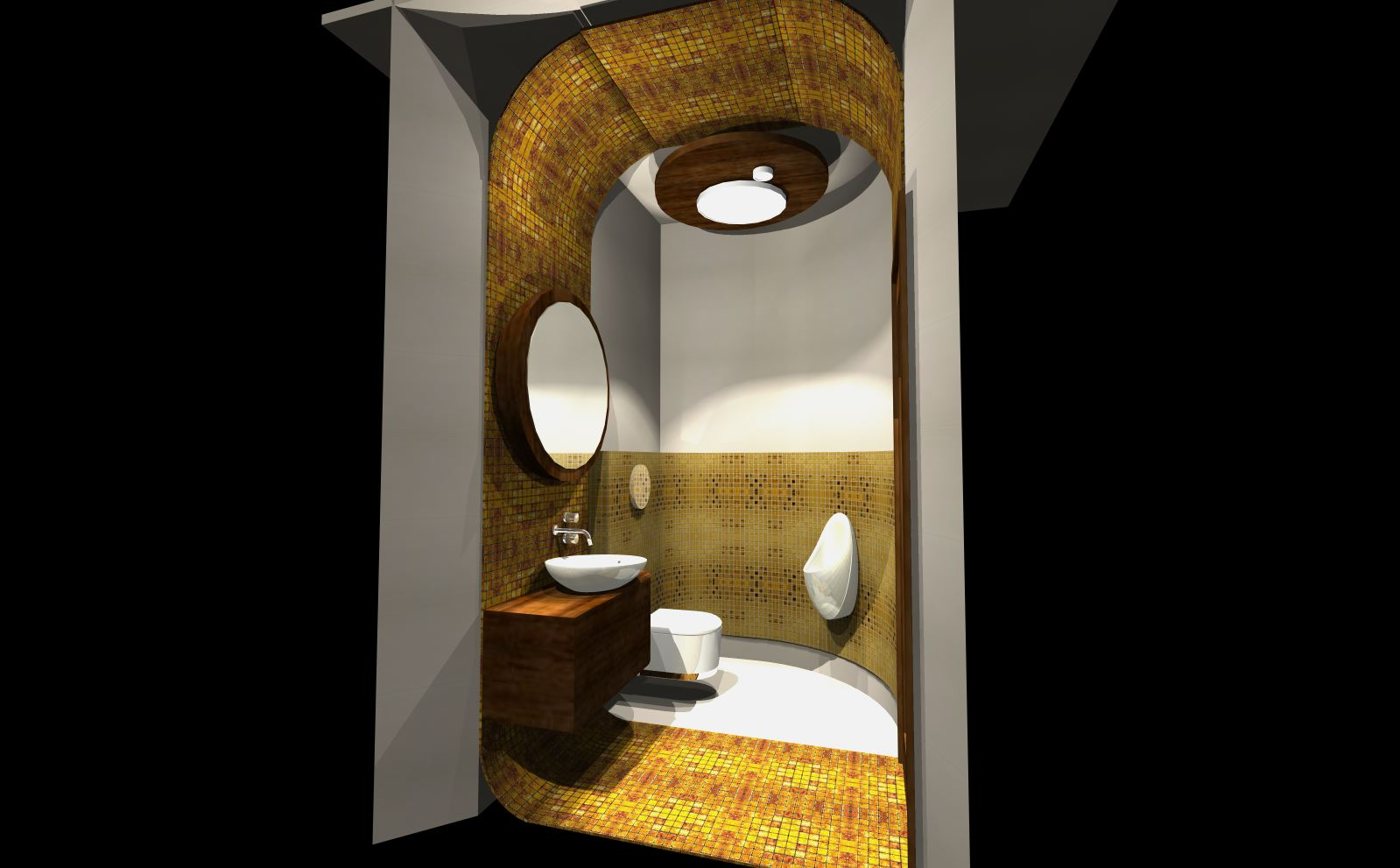 złote mozaiki łazienka