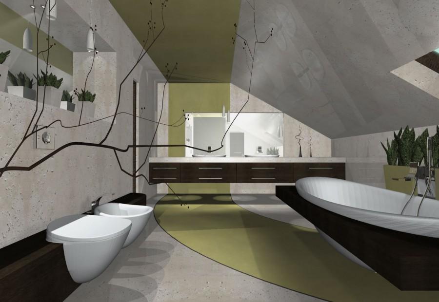 łazienki w betonie