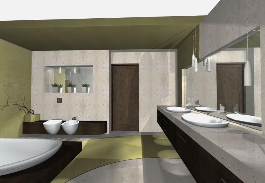 monolit w łazience betonowy