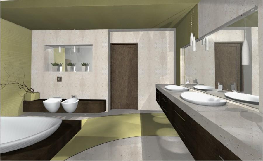 łazienka w betonie