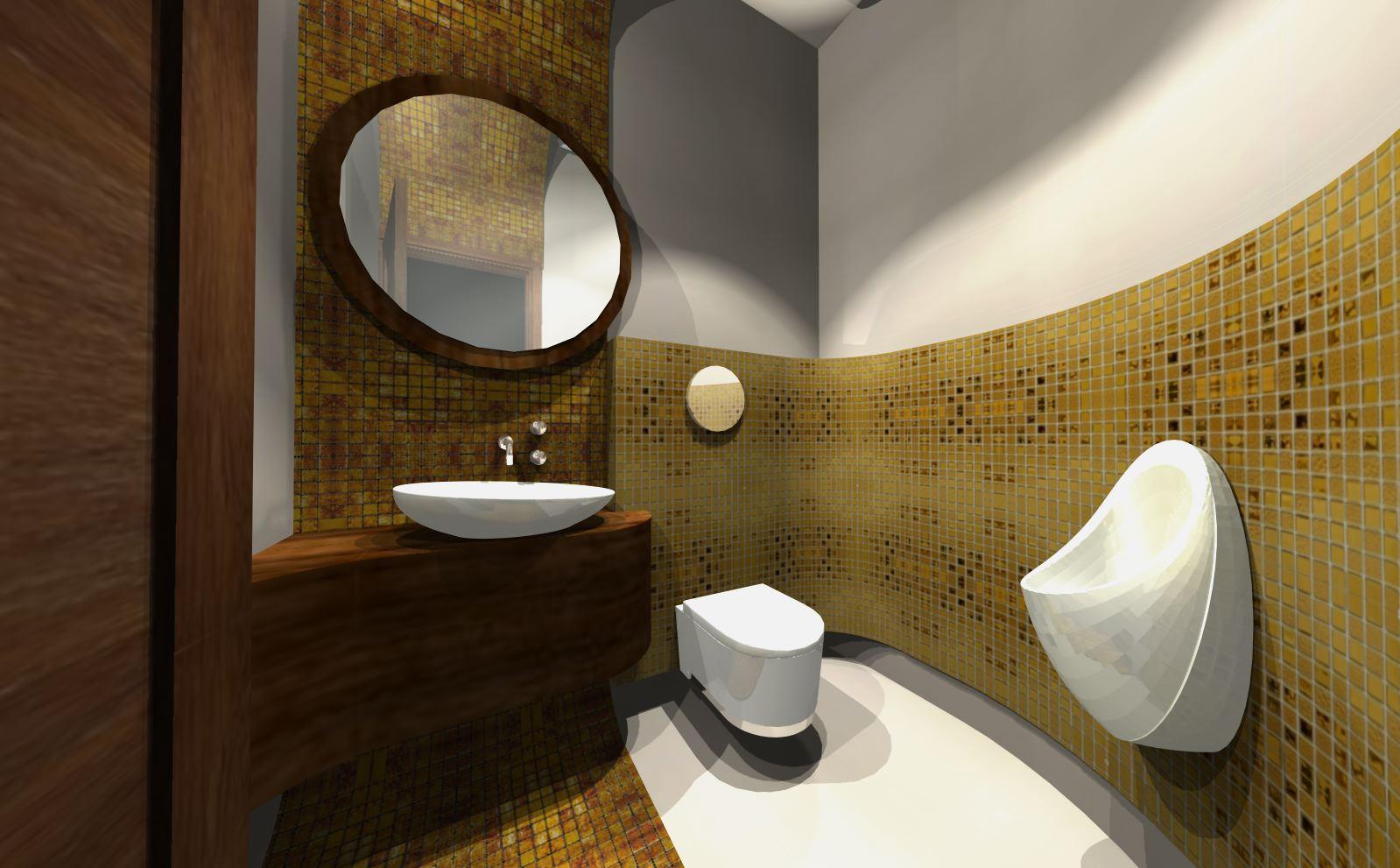 złota łazieneka nowoczesnych