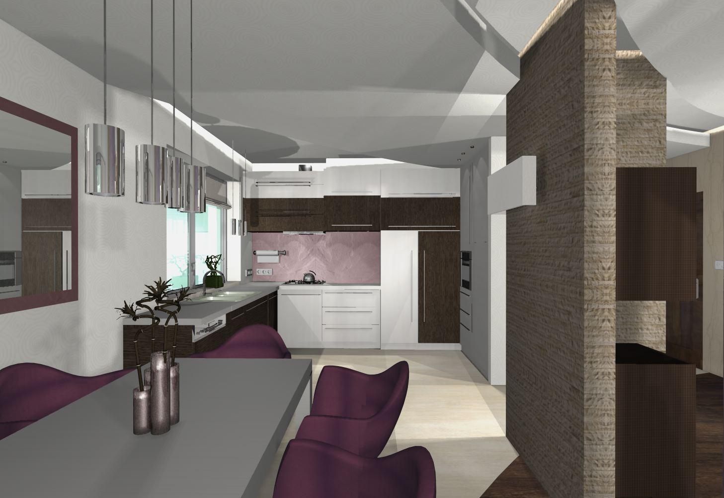 kuchnia w fiolecie