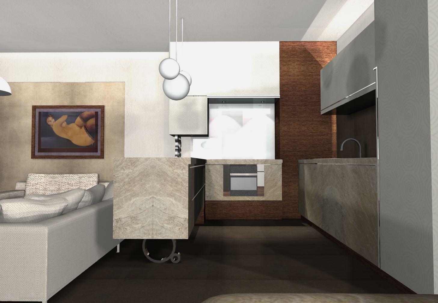Projekty kuchni nowoczesnych kuchnie na wymiarsalon nowoczesny for Projekty kuchni z salonem