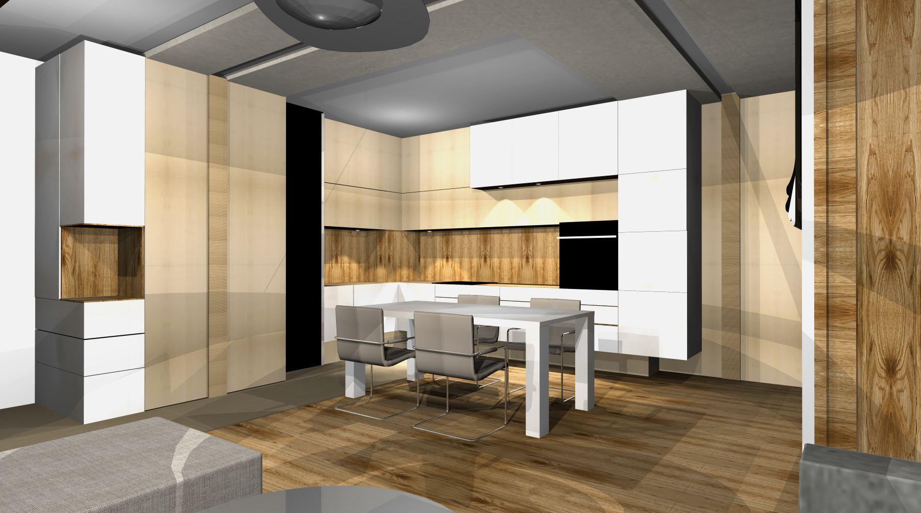 projekty kuchni nowoczesnych