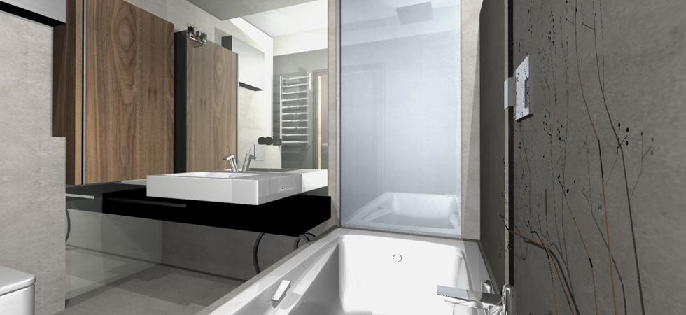 łazienka Struktura Beton Szkło