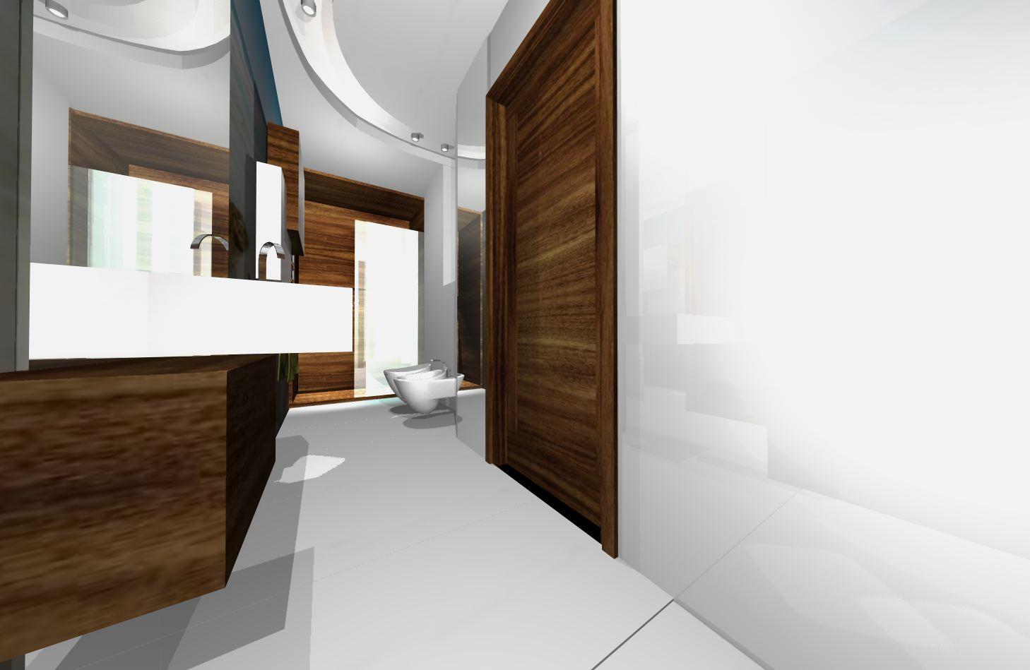 Długa i wąska łazienka