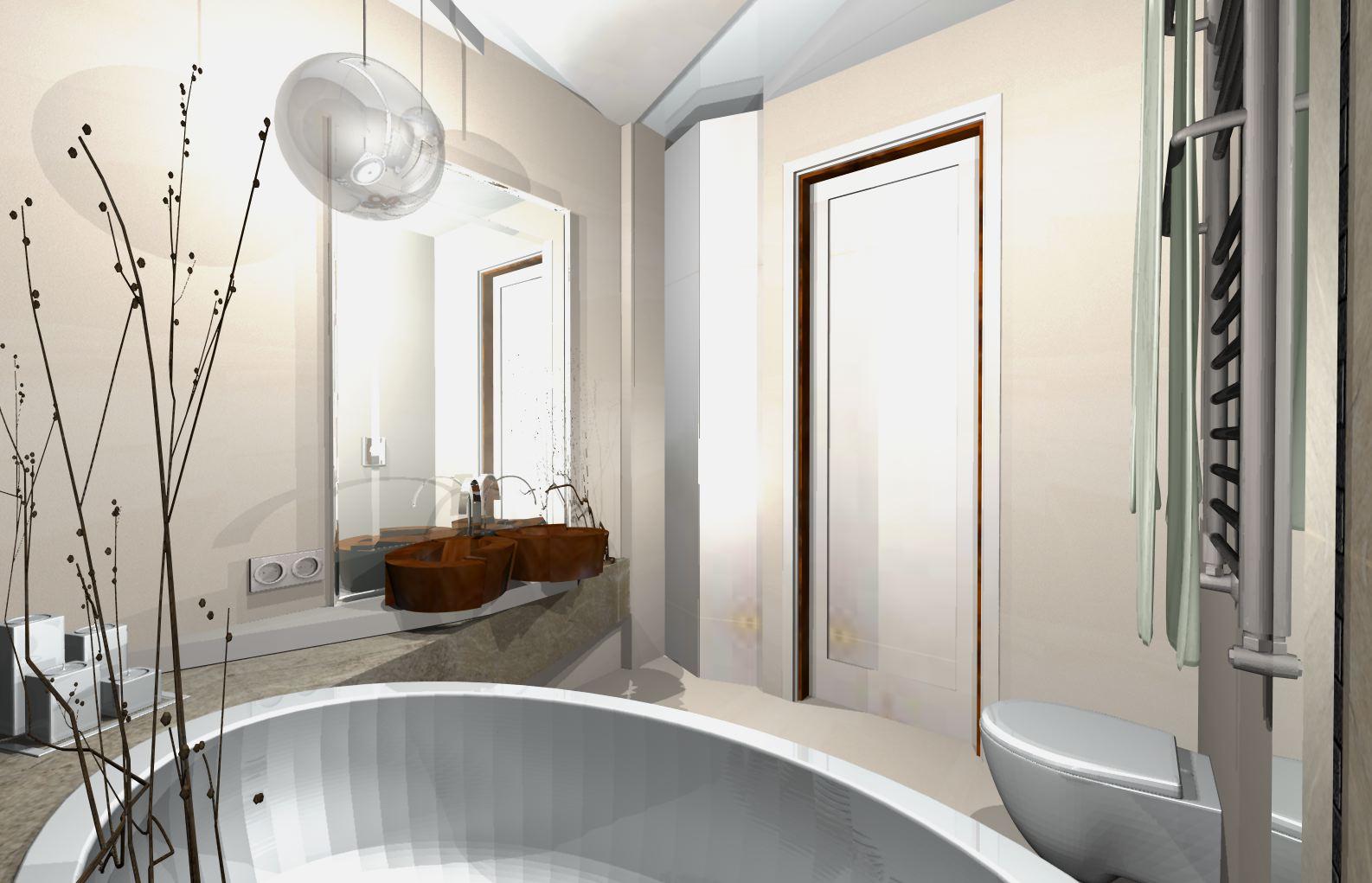 Aranżacje wnętrz łazienek - projekty łazienki